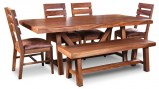 Don Jose Parota Table Chairs and Bench