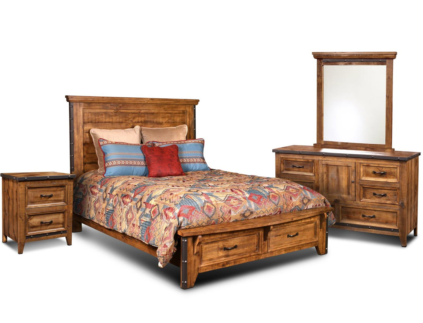 Simple Rustic Hacienda Bed Scene