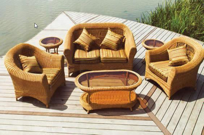 Zihuatanejo All Weather Rattan Sectional, Mexican Outdoor Furniture